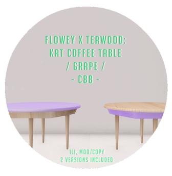 flowey x Teawood: Kat Coffee Table / grape