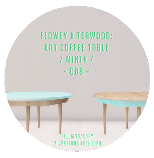 flowey x Teawood: Kat Coffee Table / minty