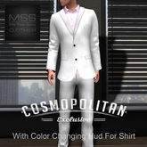*MSS* Men's Suit w/ Open Collar-White