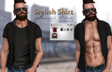 INVICTUS - Stylish Shirt -  Simple - Black
