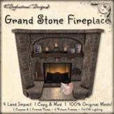 [DDD] Grand Stone Fireplace