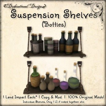 [DDD] Suspension Shelves - Bottles