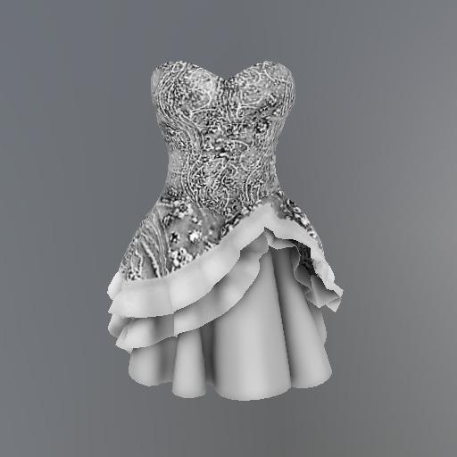Silver Frost Flower Mesh Dress