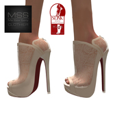 *MSS* Cream Puff Lace - SLINK High Feet
