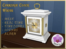 Carriage Clock White