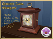 Carriage Clock Mahogany