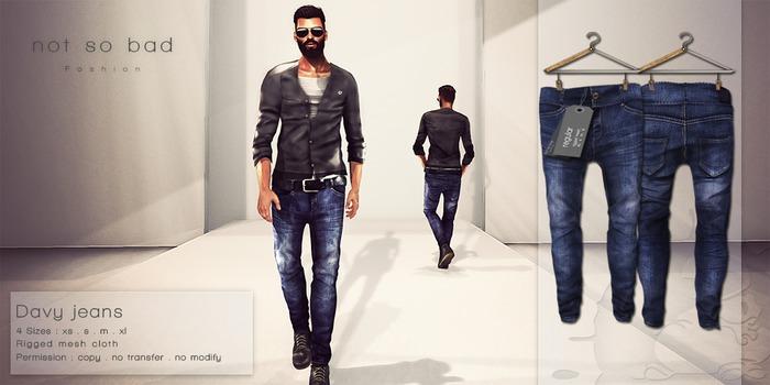 not so bad . mesh . DAVY jeans . regular