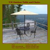 L$1 Outdoor Tables and Chairs