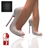 *Me Sew Sexy* Sheer Lace Peep Toe Heels - SLINK High Feet - White