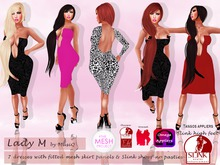 Lady M w/fitted mesh skirt panel slink shoes - MusiQ