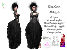 [rua modena] Eliza Gown - Midnight (Maitreya, Omega, Slink Physique, TheMeshProject Body & Wowmeh appliers)