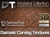 12 Damask Wood Carving Textures - Full Perm - DT Material Collection