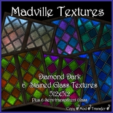 Madville Textures - Stained Glass Textures - Diamond Dark