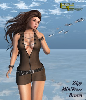 Babele Fashion :: Zipp Minidress Brown