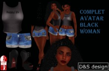 D&S design COMPLET AVATAR BLACK  WOMAN