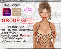 :: Miss Canning :: [Fishnet Tank] GROUP GIFT Omega System+ wowmeh+TheMeshProject