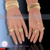.:DF:.Elya Rings & Bracelet Set-GOLD-size 30-40