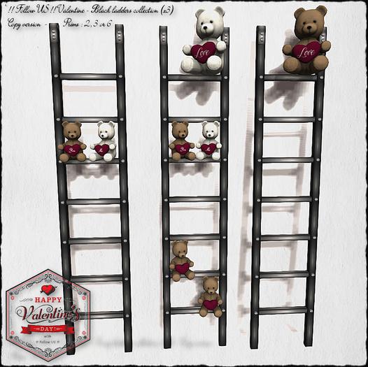 !! Follow US !! Black - Valentine ladders collection COPY Box