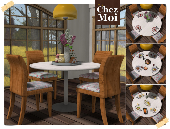 ♥ CHEZ MOI FURNITURES ♥ Dining Room Spring