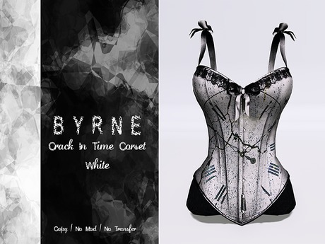 (BYRNE) CrackIntime White Corset w/ Ribbons