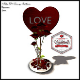 Special price Valentine's Day !! Follow US !! Love sign - Red flowers COPY version