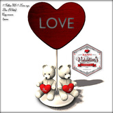 Special price Valentine's Day !! Follow US !! Love sign - Duo (white) COPY version