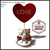 Special price Valentine's Day !! Follow US !! Love sign - Duo (White and brown) COPY version