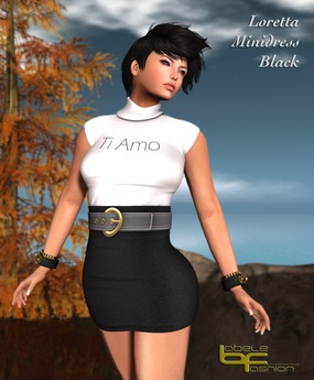 Babele Fashion :: Loretta Minidress Black