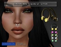 POMPOSITY - Gemstone x2 Nose Piercing - SEPTUM - BOXED - (diamonds)