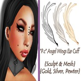 *P.c* Angel Wings Ear Cuff {Sculpt & Mesh}