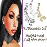 *P.c* Diamonds Ear Cuff {Sculpted & Mesh}