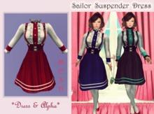 ~Kawaii Tofu~Dolly Sailor Suspender Dress