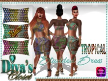 .:::Diva's Closet Studded Dress(Tropical):::.Omega Appliers