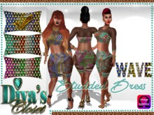 .:::Diva's Closet Studded Dress(Wave):::.Omega Appliers