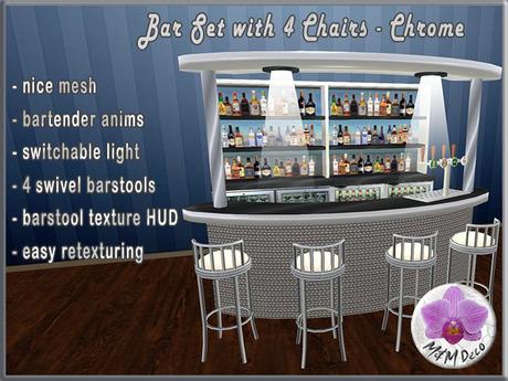 Bar Set Chrome
