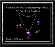 Cele'Sations Red, White & Blue Stars Jewelry Set