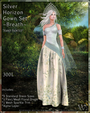 """TWA""Silver Horizon Gown Set-Breath"