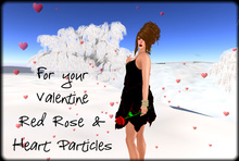 Valentine's Red Rose with Heart Particles