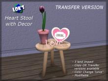Lok's Heart Stool with Decor - Transfer