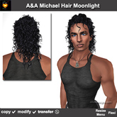 A&A Michael Hair Moonlight (Special Color). Mens long rocker hairstyle. Promo!