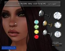 POMPOSITY - Gemstone Nose Stud - BOXED (Diamond)
