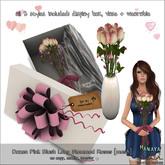 -Hanaya- Dozen Pink Blush Long Stemmed Roses [mesh]