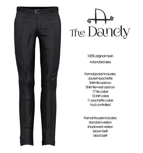 [Deadwool] The Dandy - trousers - black