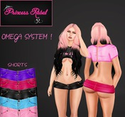 Princess Rebel - Love Me Leather Shorty Shorts - Omega Appliers - System Layers - Includes 5 Colors!
