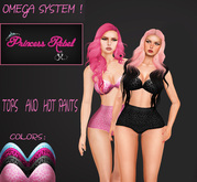 Princess Rebel - Wild Girl Hot Pants & Bandeau Top - Omega System Appliers - System Layers - Includes 4 Colors!