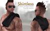INVICTUS - Shirtless / Tshirt  Simple Black