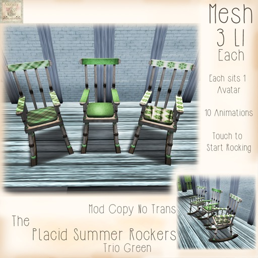 ~ASW~ The Placid Summer Rockers~Green
