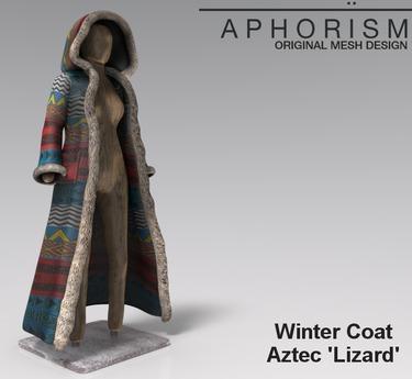 !APHORISM! Winter Coat - Aztec 'Lizard'