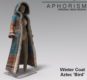 !APHORISM! Winter Coat - Aztec 'Bird'
