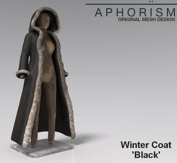 !APHORISM! Winter Coat - Black